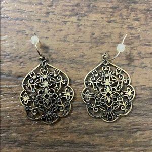 Gold intricate earrings
